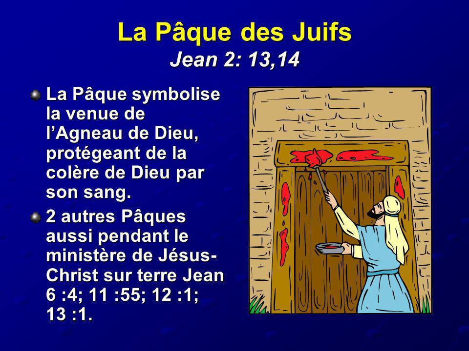 La Pâque des Juifs Jean 2: 13,14