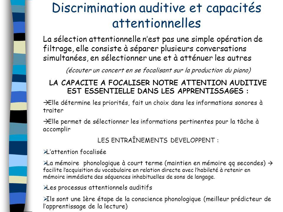 Discrimination auditive et capacités attentionnelles