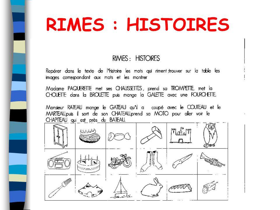RIMES : HISTOIRES