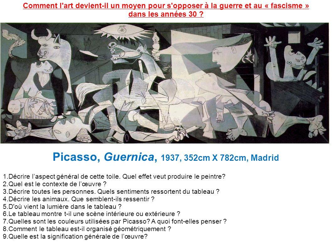 Picasso, Guernica, 1937, 352cm X 782cm, Madrid