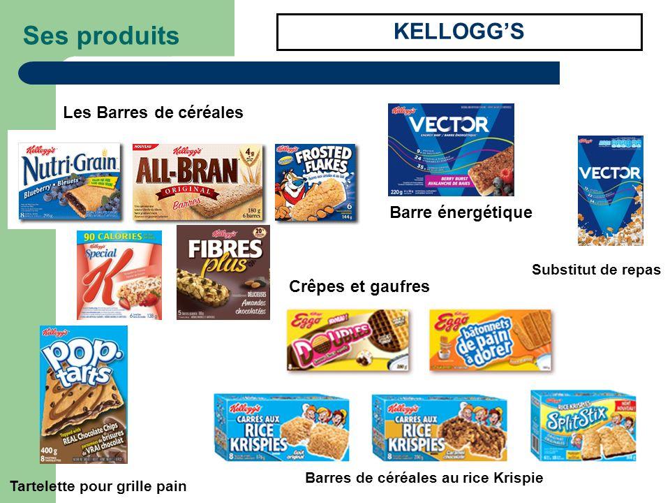 Ses produits KELLOGG'S Les Barres de céréales Barre énergétique