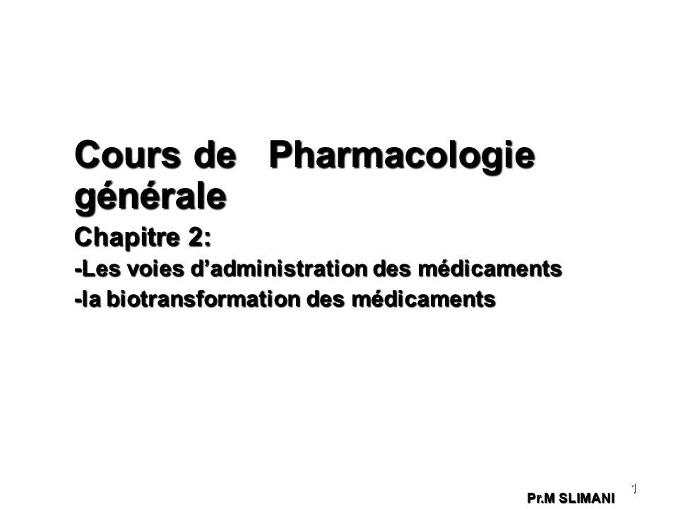 Cours de Pharmacologie générale