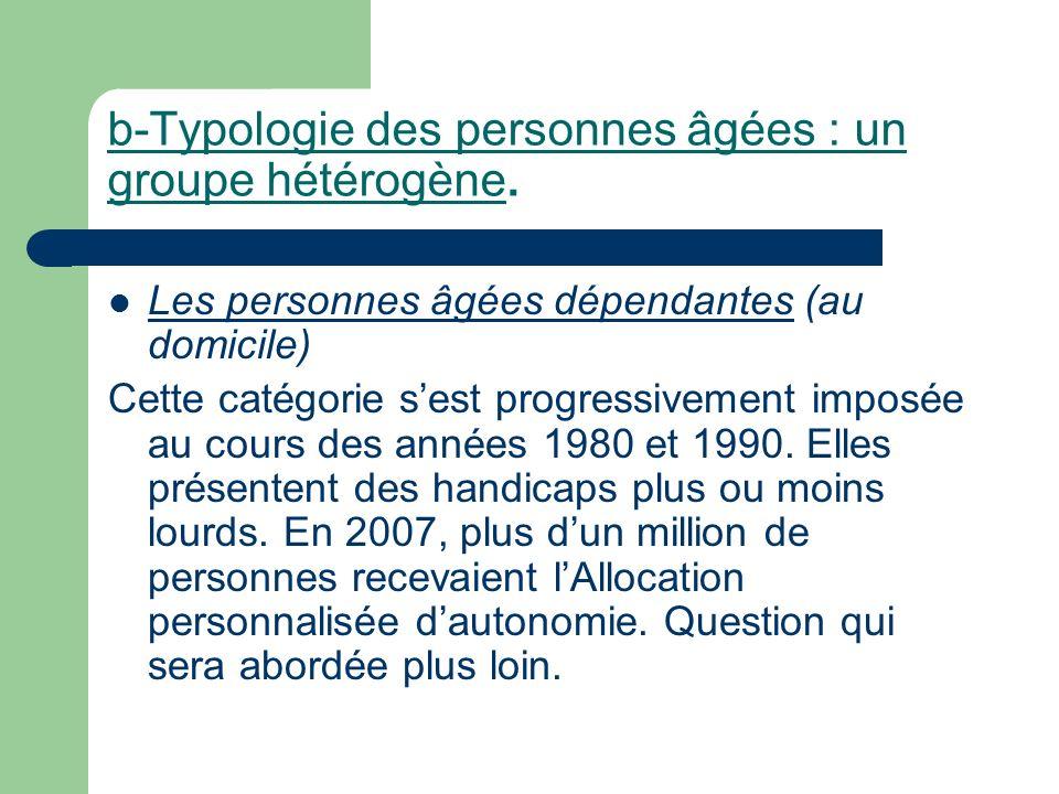 b-Typologie des personnes âgées : un groupe hétérogène.