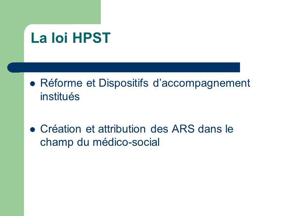 La loi HPST Réforme et Dispositifs d'accompagnement institués