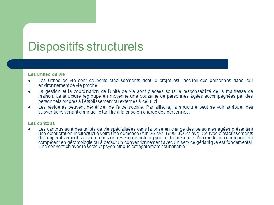 Dispositifs structurels