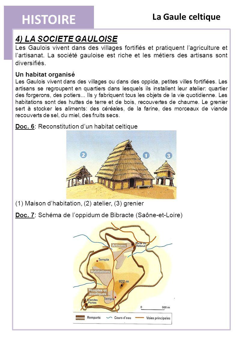 HISTOIRE La Gaule celtique 4) LA SOCIETE GAULOISE