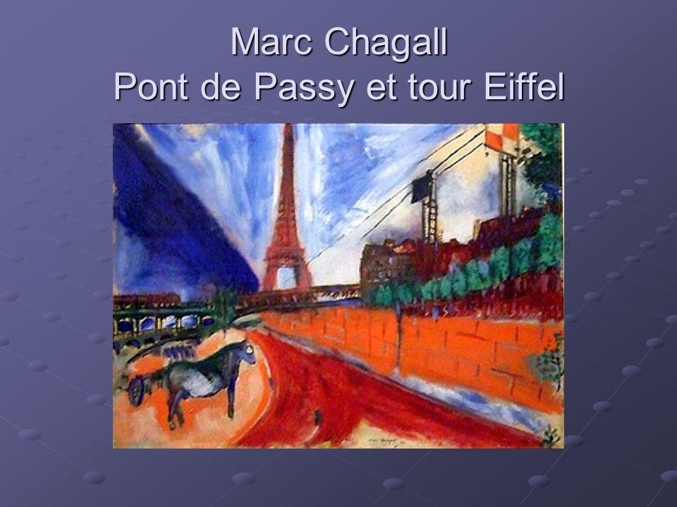 Marc Chagall Pont de Passy et tour Eiffel