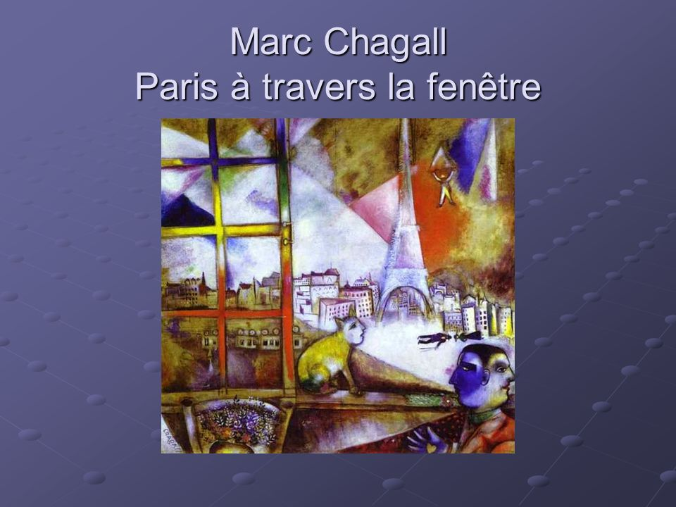 Marc Chagall Paris à travers la fenêtre