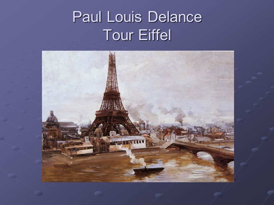 Paul Louis Delance Tour Eiffel