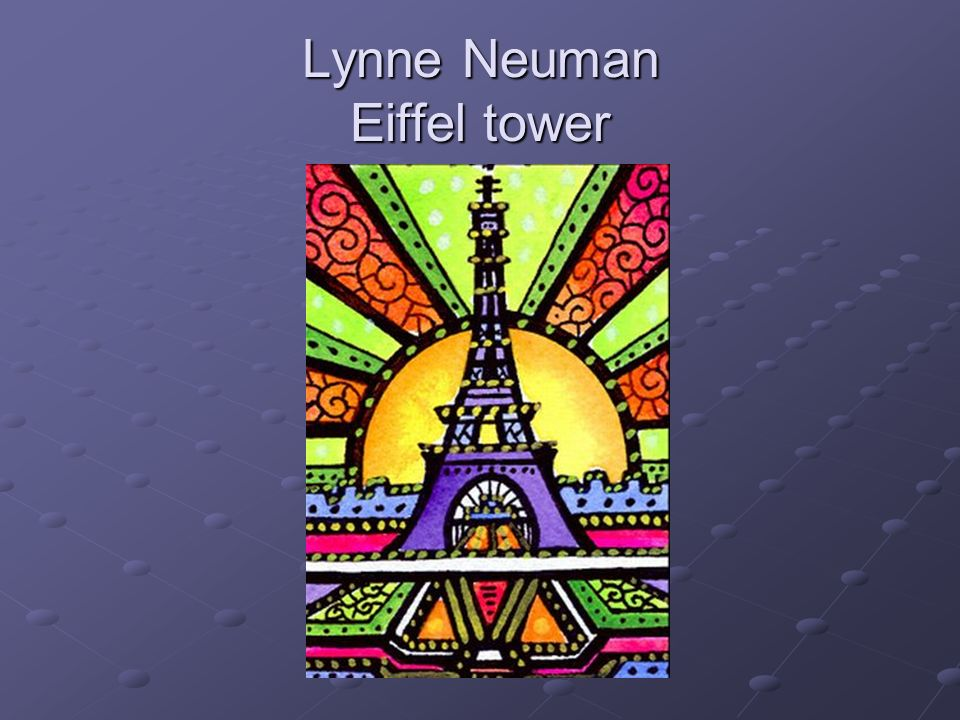 Lynne Neuman Eiffel tower