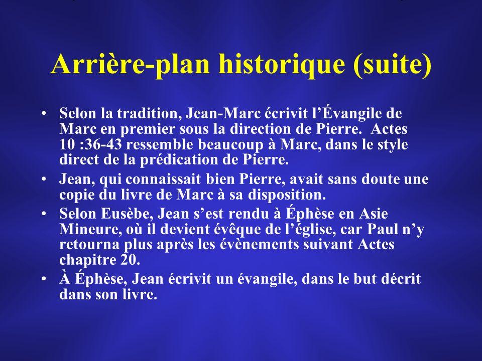 Arrière-plan historique (suite)