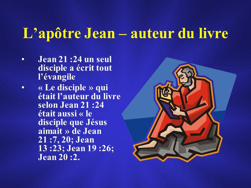 L'apôtre Jean – auteur du livre