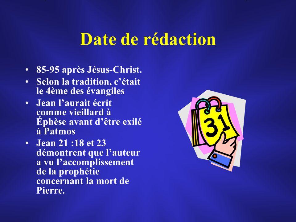 Date de rédaction 85-95 après Jésus-Christ.