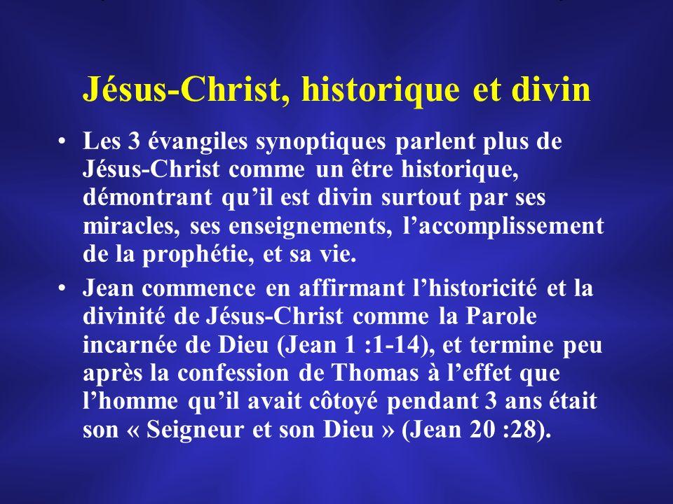 Jésus-Christ, historique et divin