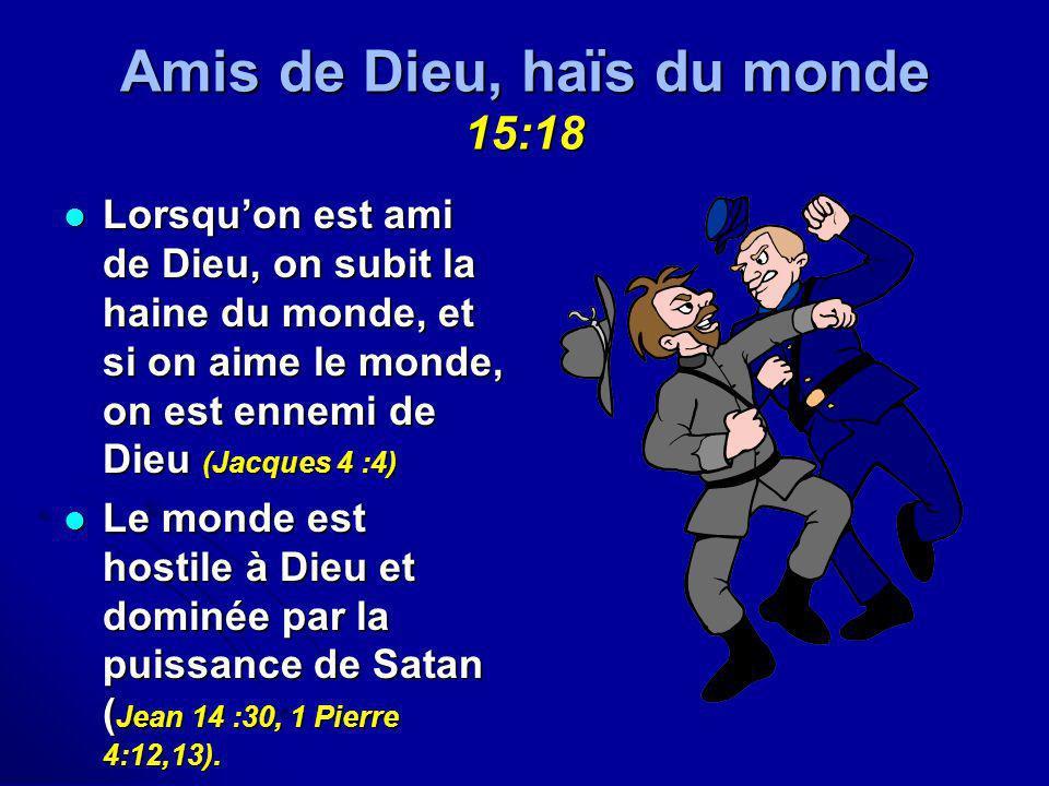 Amis de Dieu, haïs du monde 15:18