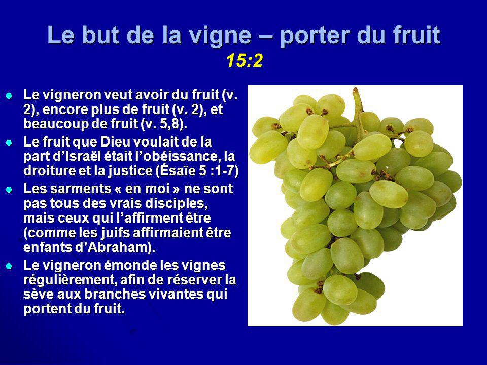 Le but de la vigne – porter du fruit 15:2