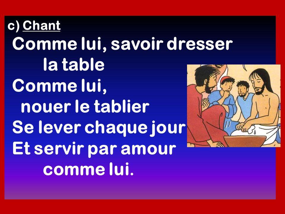 la table Comme lui, nouer le tablier Se lever chaque jour