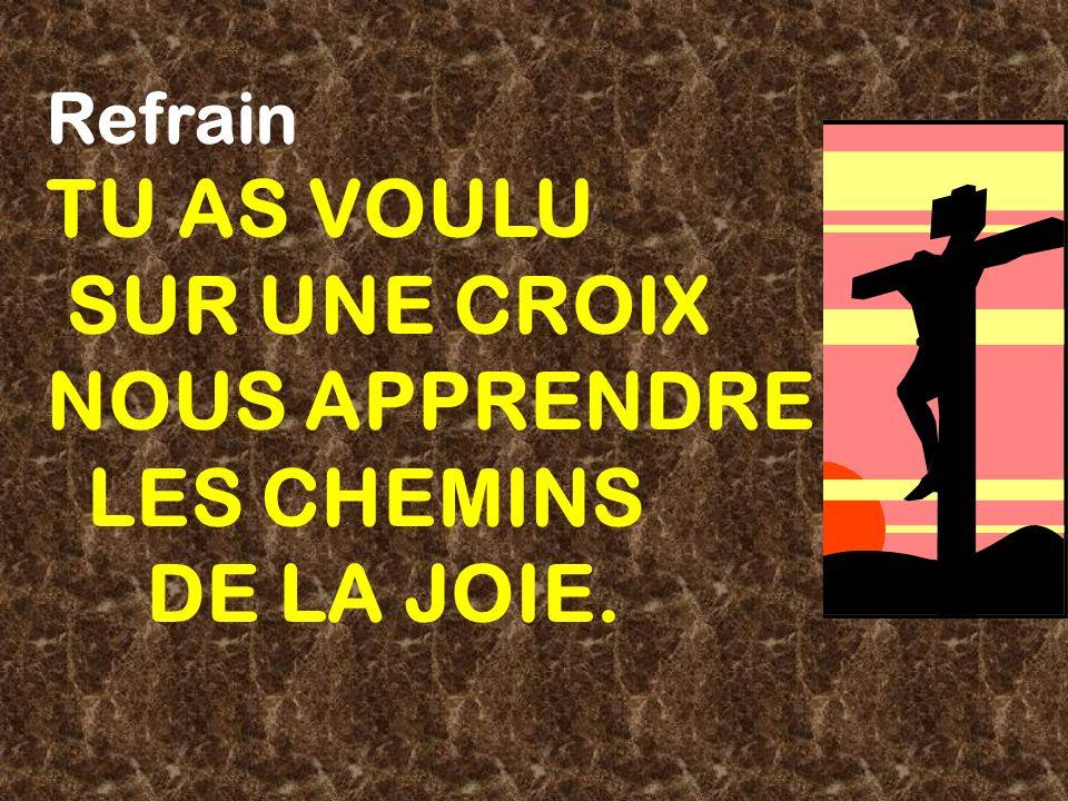 TU AS VOULU SUR UNE CROIX NOUS APPRENDRE LES CHEMINS DE LA JOIE.
