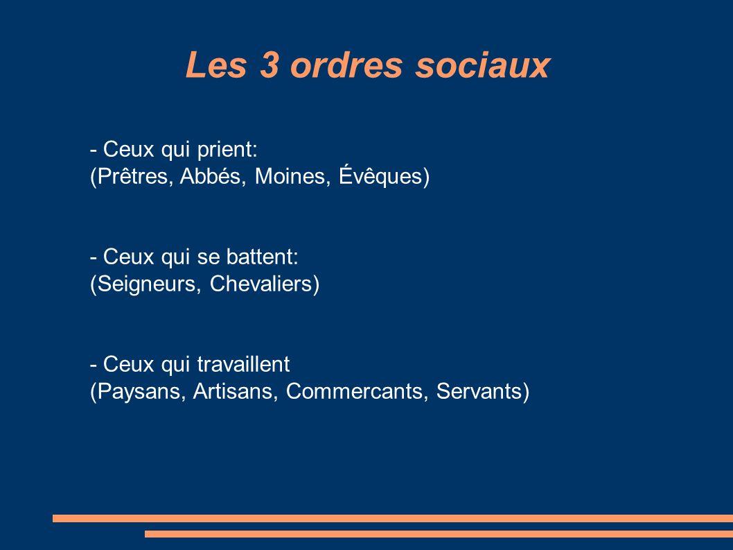 Les 3 ordres sociaux - Ceux qui prient: