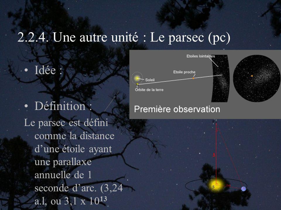 2.2.4. Une autre unité : Le parsec (pc)