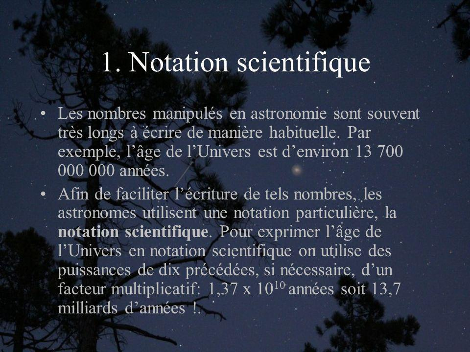 1. Notation scientifique