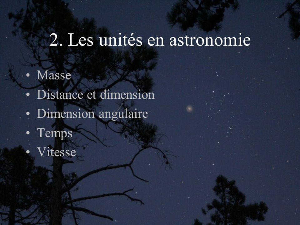 2. Les unités en astronomie