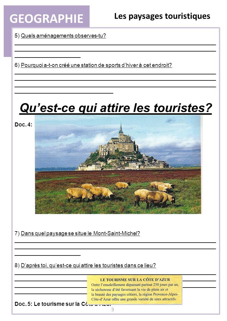 Qu'est-ce qui attire les touristes
