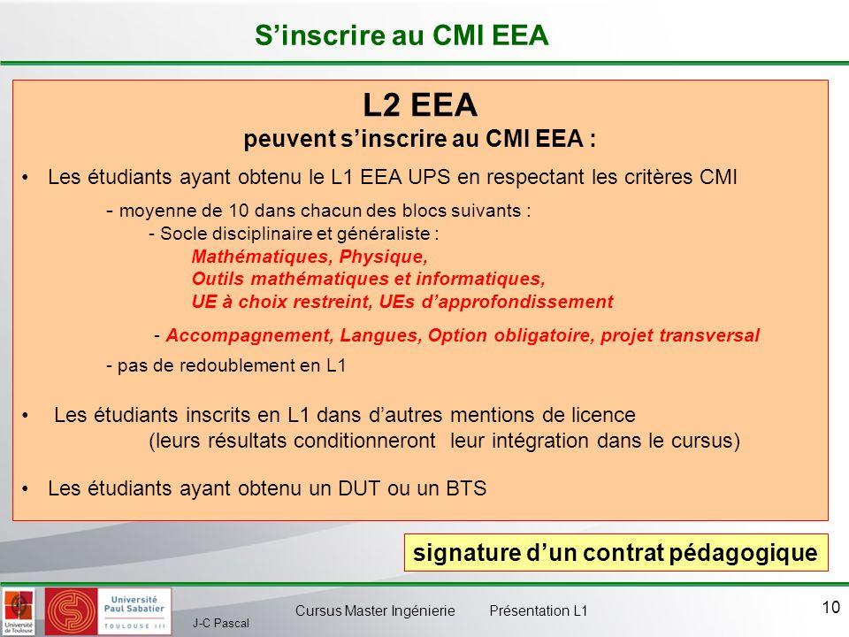 peuvent s'inscrire au CMI EEA :