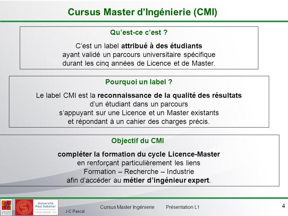 Cursus Master d'Ingénierie (CMI)