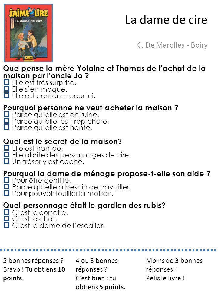 La dame de cire C. De Marolles - Boiry
