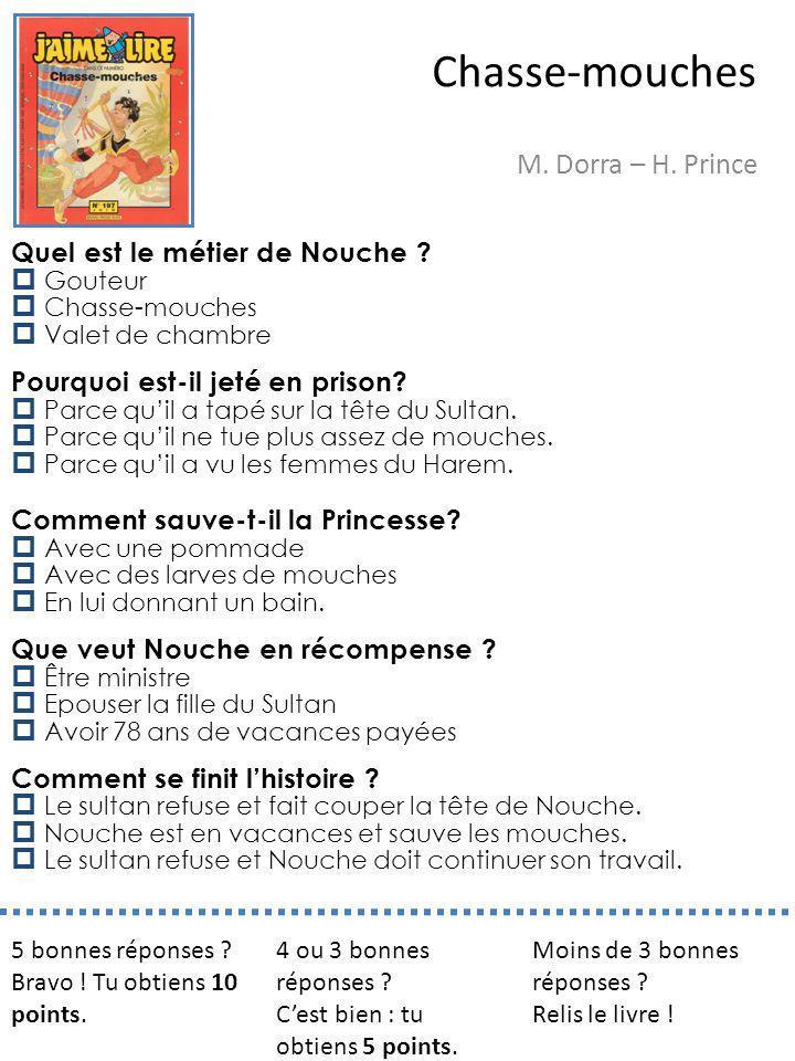 Chasse-mouches M. Dorra – H. Prince Quel est le métier de Nouche
