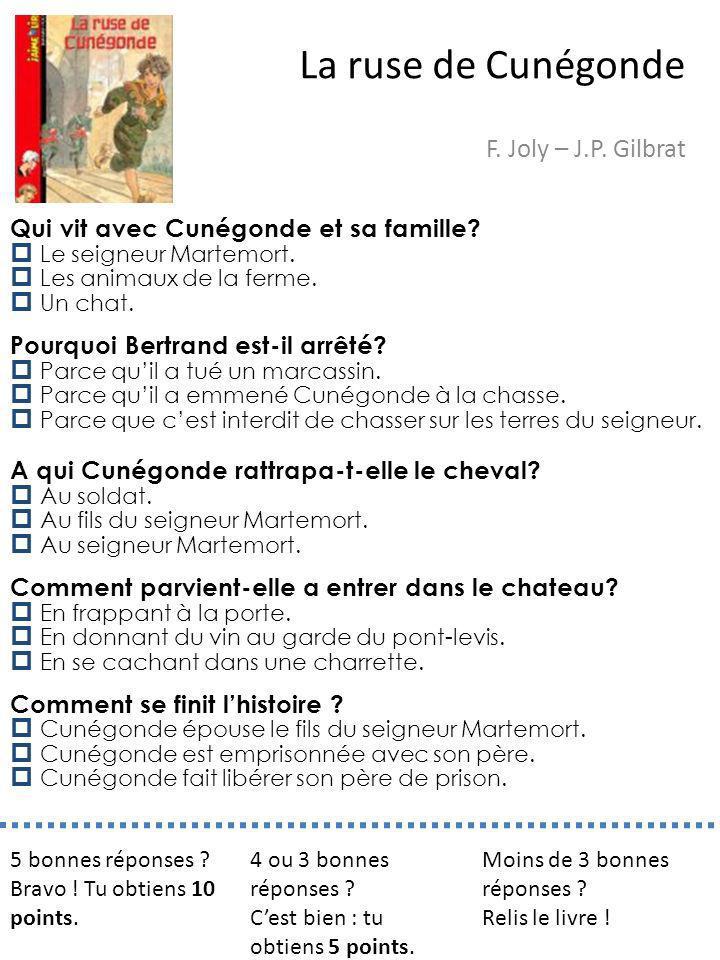 La ruse de Cunégonde F. Joly – J.P. Gilbrat