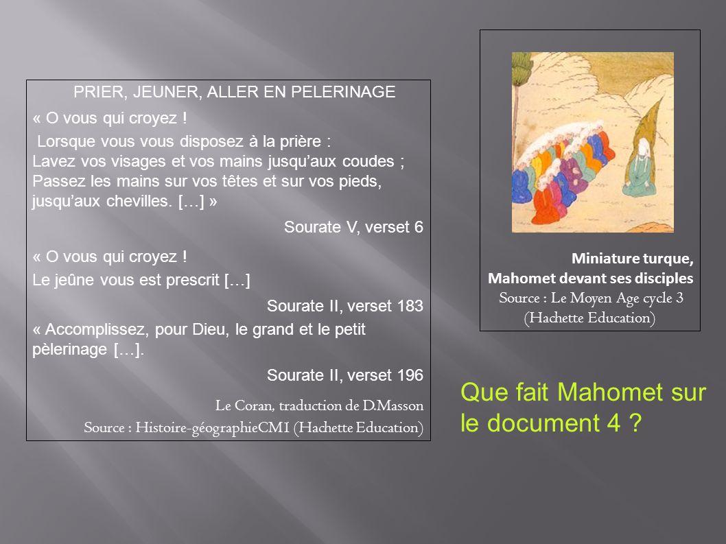 Que fait Mahomet sur le document 4