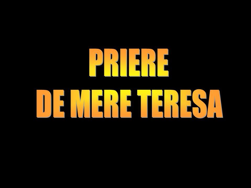 PRIERE DE MERE TERESA
