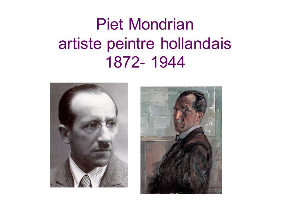 Piet Mondrian artiste peintre hollandais 1872- 1944