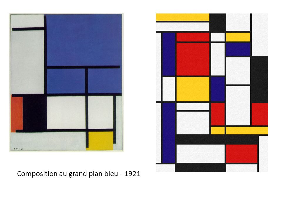 Composition au grand plan bleu - 1921