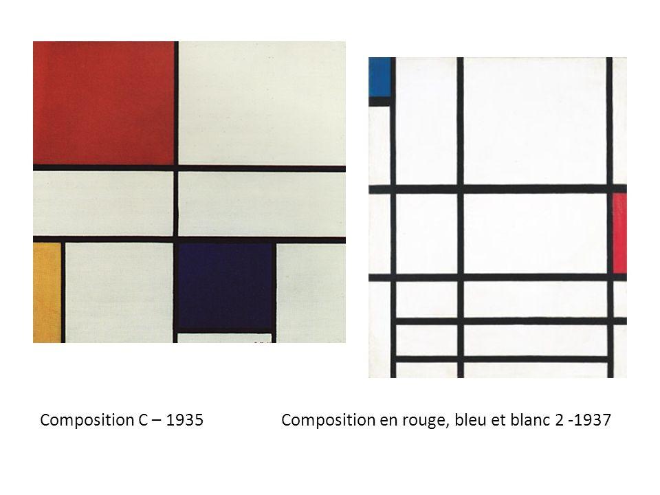 Composition C – 1935 Composition en rouge, bleu et blanc 2 -1937