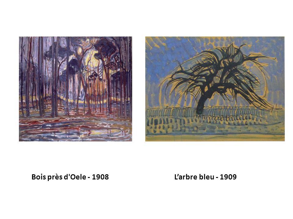 Bois près d Oele - 1908 L'arbre bleu - 1909