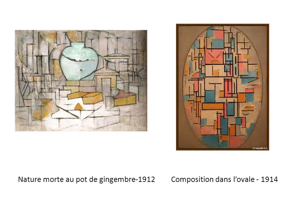 Nature morte au pot de gingembre-1912 Composition dans l'ovale - 1914