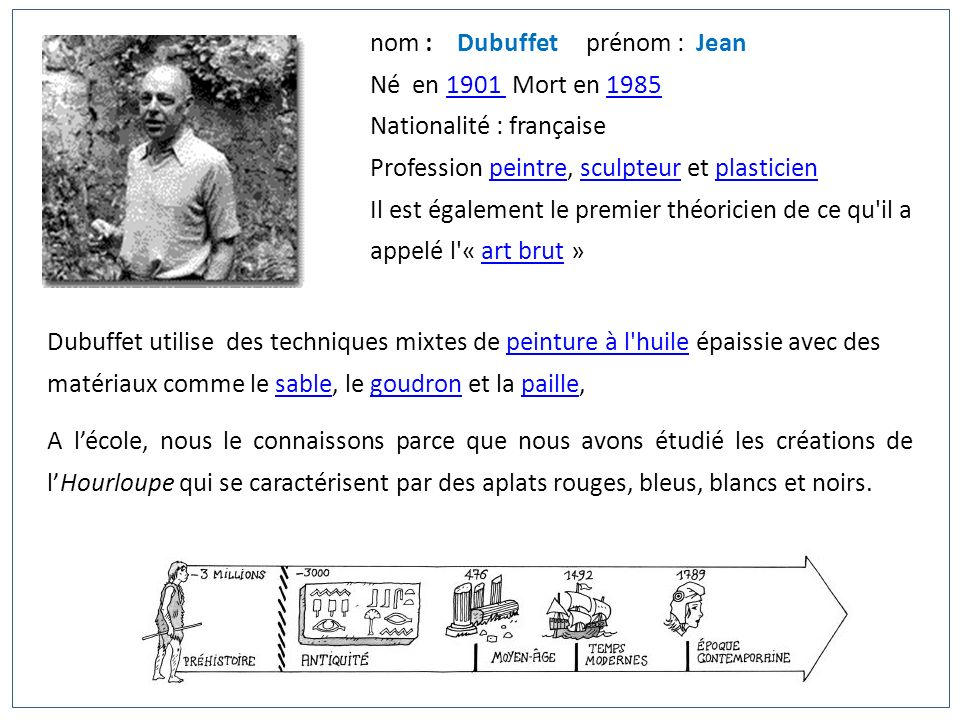 nom : Dubuffet prénom : Jean