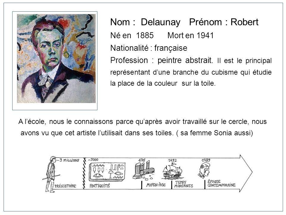 Nom : Delaunay Prénom : Robert