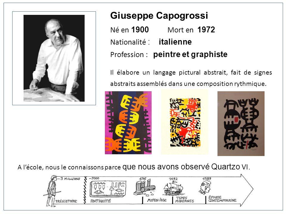 Giuseppe Capogrossi Né en 1900 Mort en 1972 Nationalité : italienne