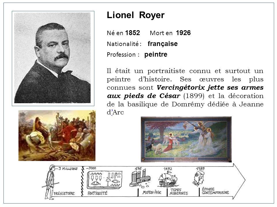 Lionel Royer Né en 1852 Mort en 1926 Nationalité : française