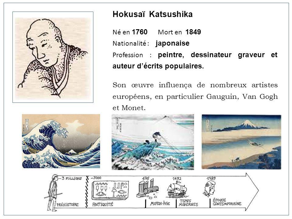 Hokusaï Katsushika Né en 1760 Mort en 1849 Nationalité : japonaise