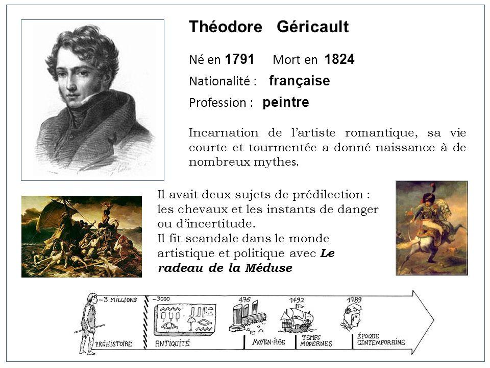 Théodore Géricault Né en 1791 Mort en 1824 Nationalité : française
