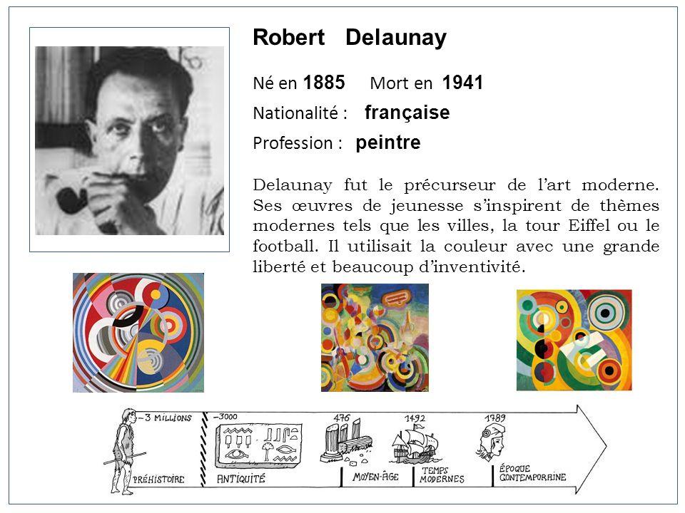 Robert Delaunay Né en 1885 Mort en 1941 Nationalité : française