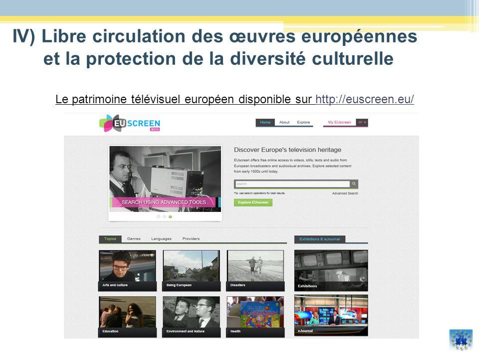 Le patrimoine télévisuel européen disponible sur http://euscreen.eu/