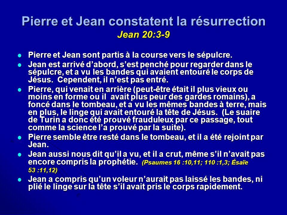 Pierre et Jean constatent la résurrection Jean 20:3-9