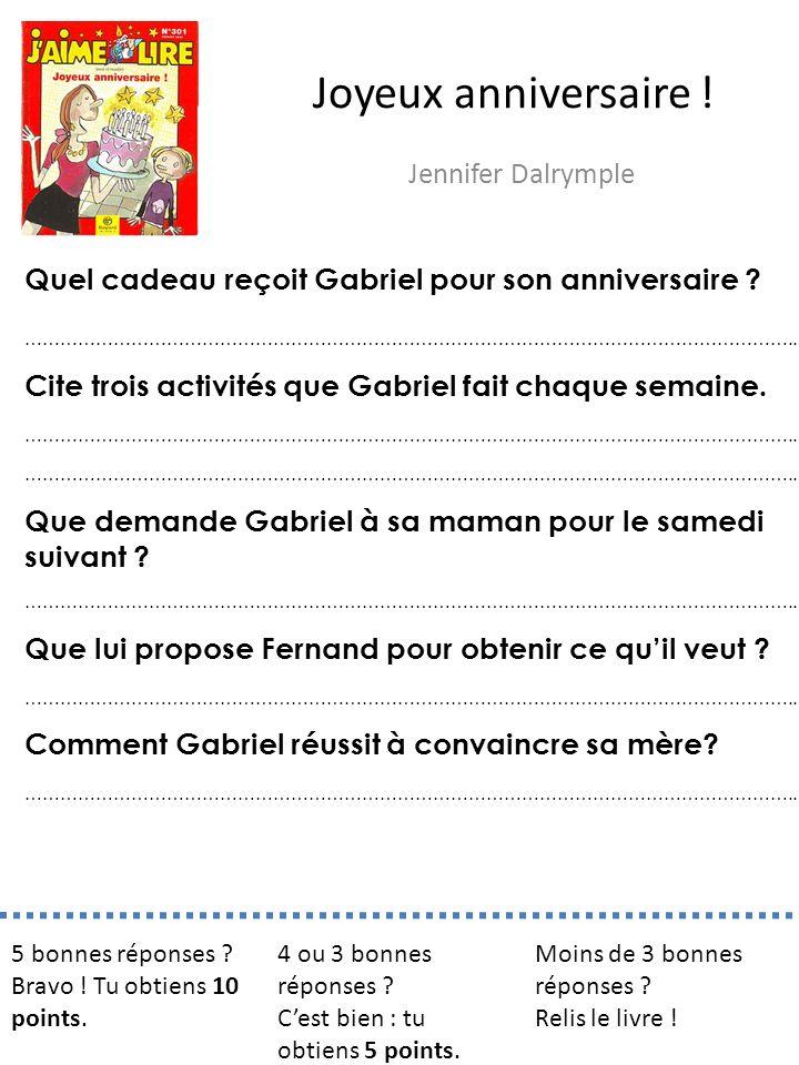 Joyeux anniversaire ! Jennifer Dalrymple