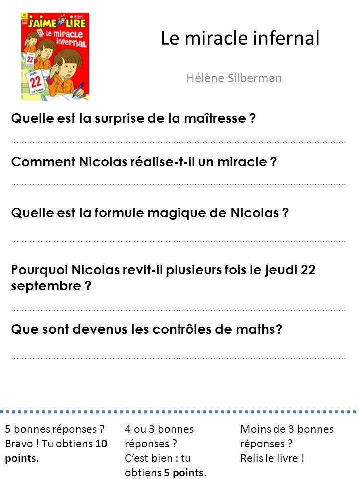 Le miracle infernal Hélène Silberman